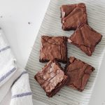 fudgy chewy salty brownies