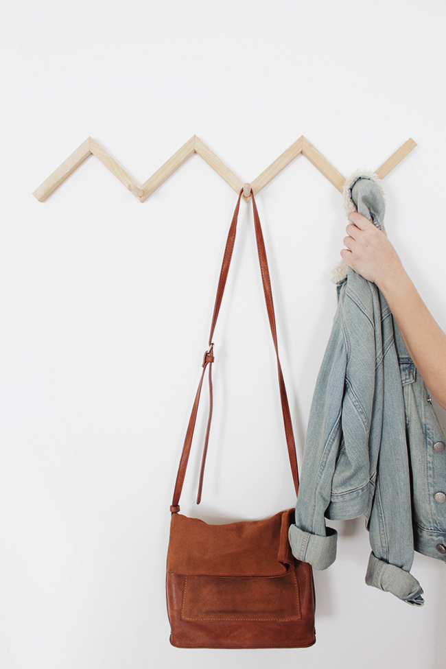 Diy Zig Zag Coat Rack Almost Makes Perfect