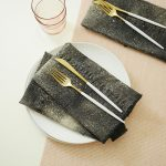 DIY upcycled denim napkins
