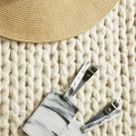 DIY 10 second brushstroke luggage tags