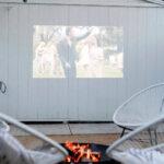 backyard campfire date night