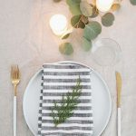 simple natural holiday table