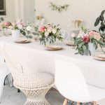 blush floral bridal shower