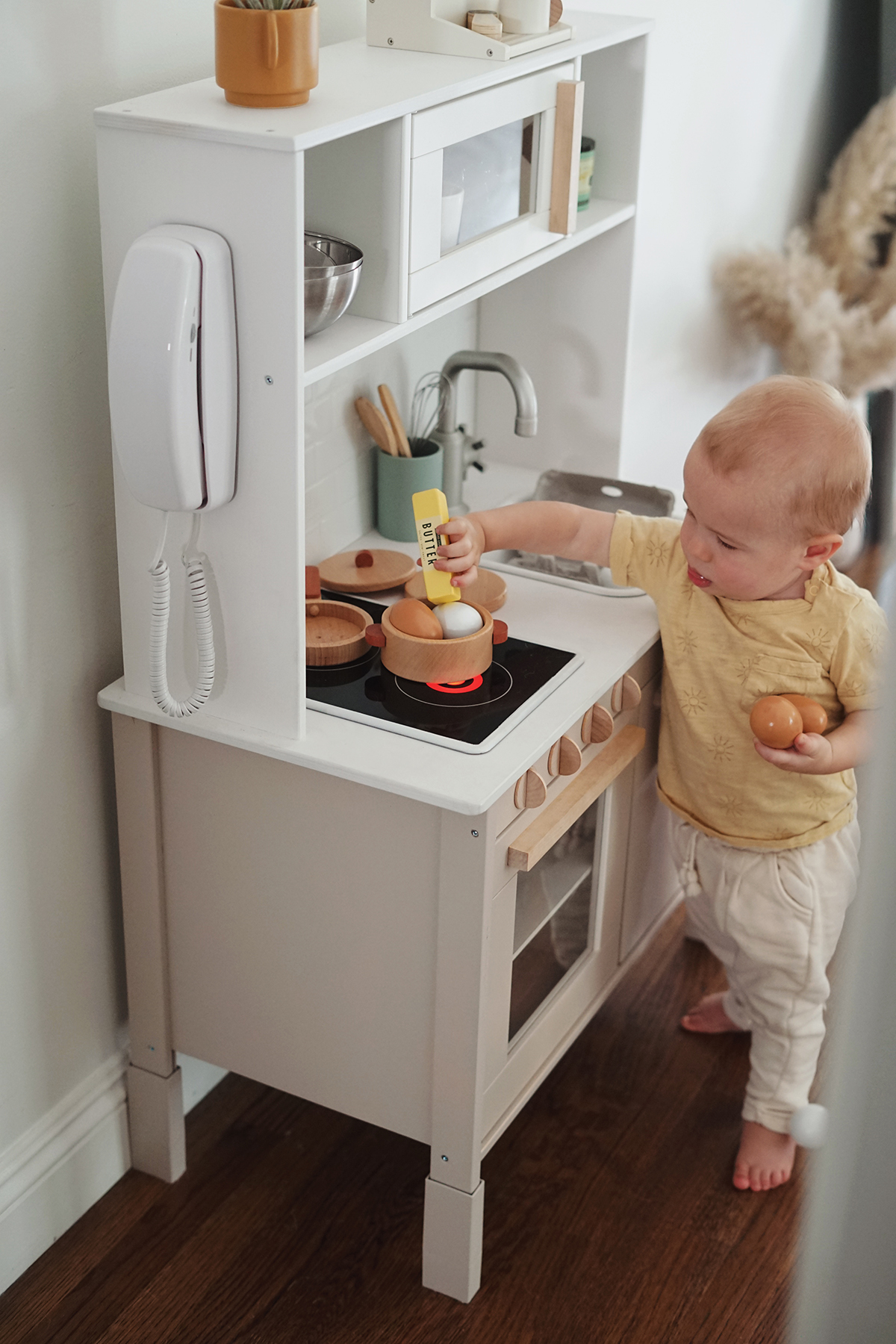modern ikea play kitchen hack - almost