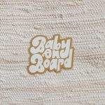 baby on board — car magnet!