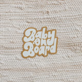 baby on board -- car magnet!