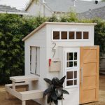 a modern outdoor kids playhouse makeover
