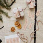 printable peachy minimal holiday gift tags