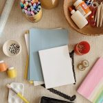 the craft supplies we're using