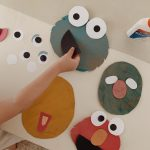 sesame street collage puppet craft